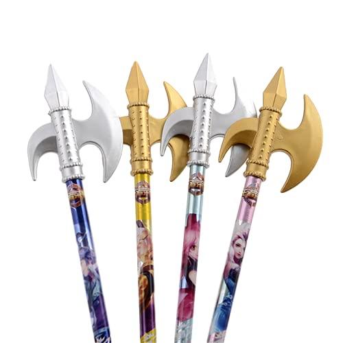 Axe Sword Bolígrafos de tinta de gel de dibujos animados Bolígrafos de punta fina Rotuladores de punta fina (10)