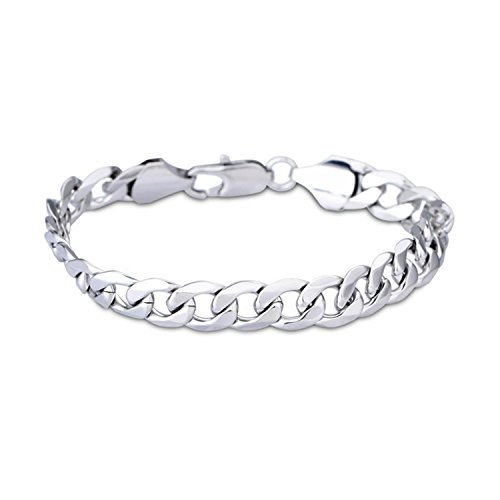 LDUDU Stainless steel bracelet link wrist Silver Classic Polished Men gift for birthday, Valentine's Day, Christmas