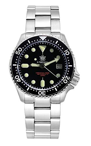 Steeldive SD1996 Reloj de buceo, SKX SKX007 Version3, NH35, AR Sapphire, Lume, 200m Diver, BNIB