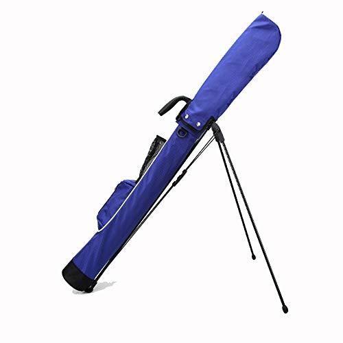 ZoSiP Golf Tasche Caddybags Golf Stand Bag, Leicht Einfach Carry Reiseetui Pitch & Putt Golf Sonntag Tasche mit Ständer & Handle for Golfschläger (Color : Blue, Size : 12x15x120cm)