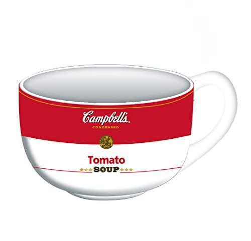 Silver Buffalo Campbell's Tomato Ceramic Soup Mug, 24-Ounce, white/red