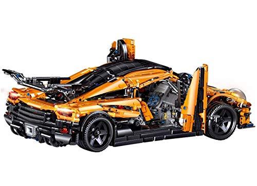 Kit de construcción de juguete de bloque de construcción para coches de carreras, 1:8 Kit de construcción de coches de carreras, -3055 piezas, niños y niñas mayores de 8 años