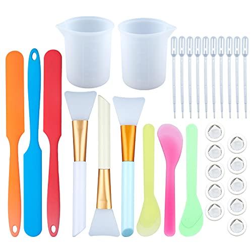SUNNYCLUE Siliconen Roer Sticks Kit 3 Stks Siliconen Spatel voor het mengen van Hars verf DIY Craft