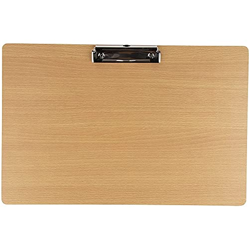 Wooden Ledger Size Landscape Clipboard with Low Profile Clip (11.5 x 17 In)