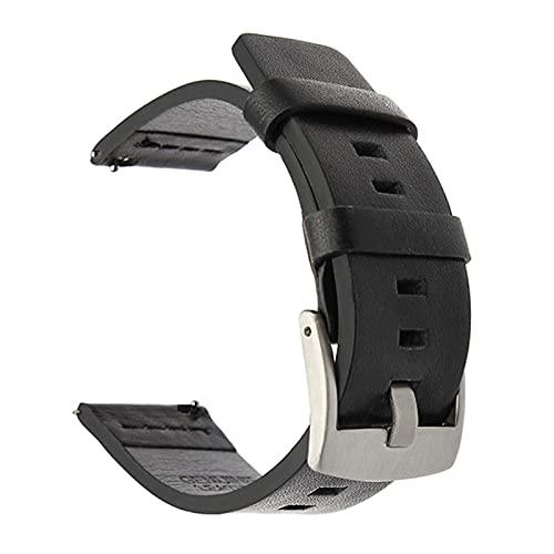 HANLILI kasu Correa de Cuero Suave Apta para Reloj Huawei GT / GT2 4 Correa de Brazalete de Pulsera Deportiva de Accesorios Inteligentes de 6 mm para Samsung Active 42mm Watch 20 / 22mm Banda