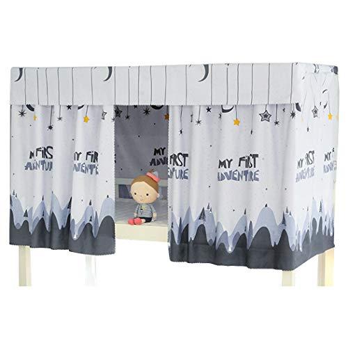 Justdolife Etagenbett Vorhang Set Staubdicht Single Sleeper Bett Baldachin Blackout Stoff Vorhang