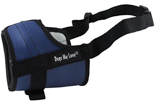 "Adjustable Dog Muzzle 6 Sizes Blue (XXS: 4.5""-6.5"" Snout Circumf.)"
