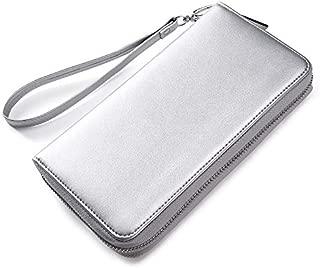 RFID Waterproof Genuine Leather Credit Card Holder Phone Wallet for Women or Men