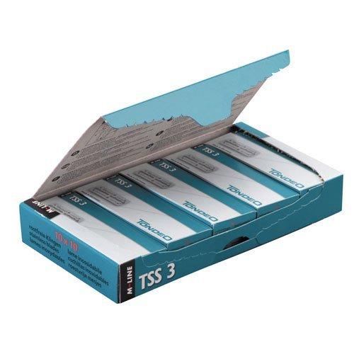 Tondeo TSS3 roestvrije messen, per stuk verpakt (10 x 10 stuks)