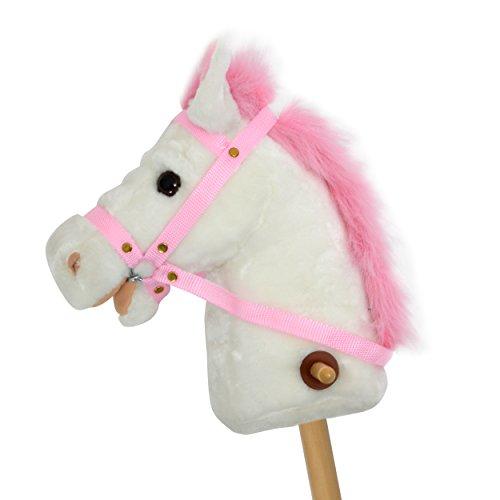 Pink Papaya Stokpaard - Lilly - Schattig Pluche Speelgoed Paard met Geluidsfunctie: Hinnikend en Galopperend Geluid