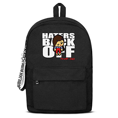 Haters Back Off Miranda Sings Bag Casual Style Packable Canvas Rucksack Grocery for Men Women or Kids