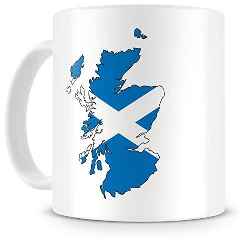 Samunshi® Schottland in Nationalfarben Tasse Kaffeetasse Teetasse