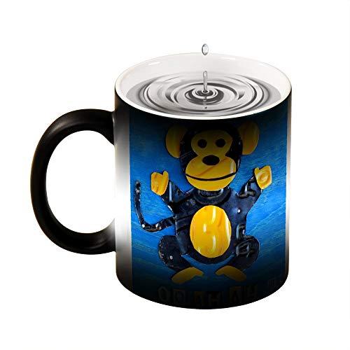 Magic mok warmte gevoelige Oo Ah Ah de aap grappige kleur veranderen koffie mok Cup 11 OZ