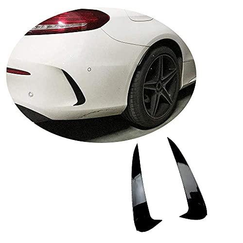 YMSHD La ventilación del Parachoques Trasero se Adapta a Mercedes para Benz Clase C C205 A205 C63 Amg / C63 S Amg 2 Puertas 2015-2019 Abs Negro Brillante para Guardabarros de Aire, Protector