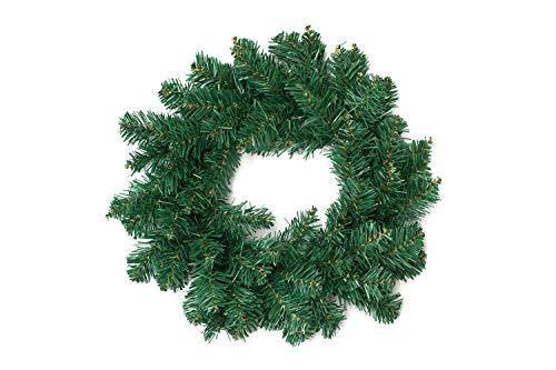 Corona navideña de decoración, Verde, 40 cm