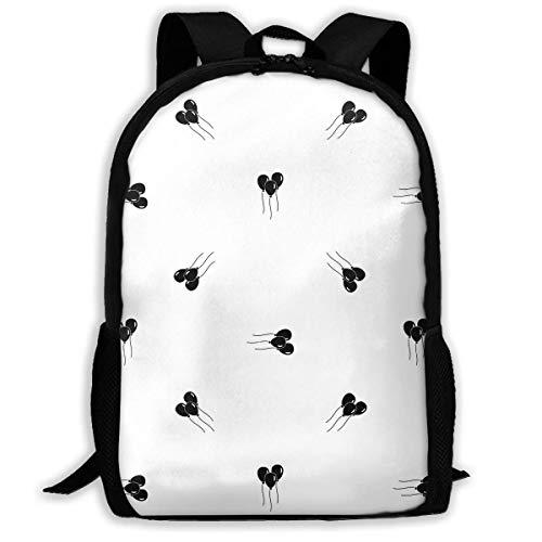 Kinderrugzak, ballonnen schoolrugzak, comfortabele boekentas voor volwassenen om te klimmen, wandelen, reizen, 43 x 28 x 16 cm