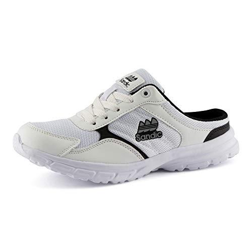 Fusskleidung Damen Herren Sabot Sneaker Sportschuhe Slip-On Clogs Pantoletten Freizeit Sandalen Weiß EU 38