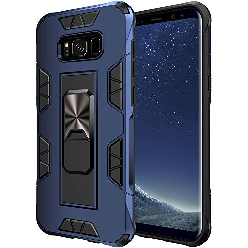 Samsung Galaxy S8 Plus Case Samsung Galaxy S8+ Case Military Grade Built-in Kickstand Case Holder Armor Heavy Duty Shockproof Cover Protective for Samsung Galaxy S8 Plus Phone Case (Blue)