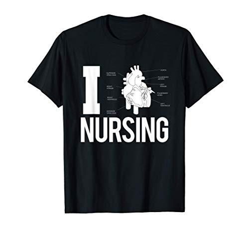 Me encanta la enfermería. Regalo para enfermera cardíaca Camiseta