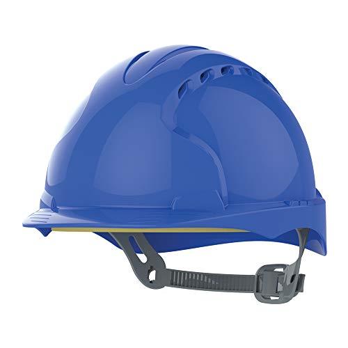 JSP Evo3 Helm, Bauhelm, Schutzhelm blau mit Belueftung