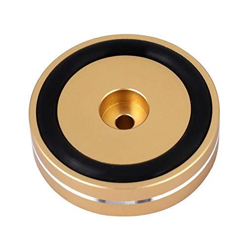 SANON 4 Stück Aluminium Lautsprecher Isolation Füße Verstärker Pad Fadeless Absorber für Verstärker Plattenspieler Verstärker Zubehör