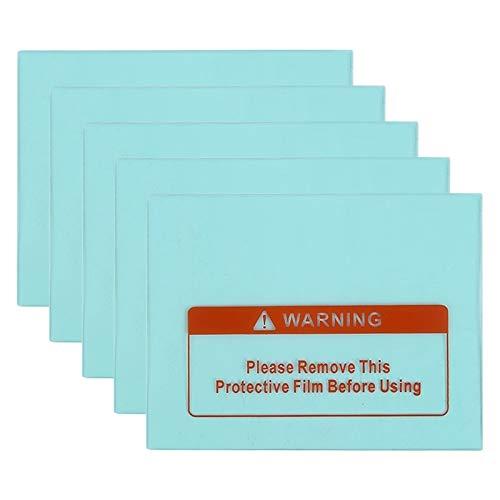 YIHUI Bolsa Protectora de teléfono 5 PCS Cubierta de la máscara de Casco de Soldadura con atenuación automática Solar Protector de PC, Tamaño: 110 x 90 mm Ángulo Recto ✅