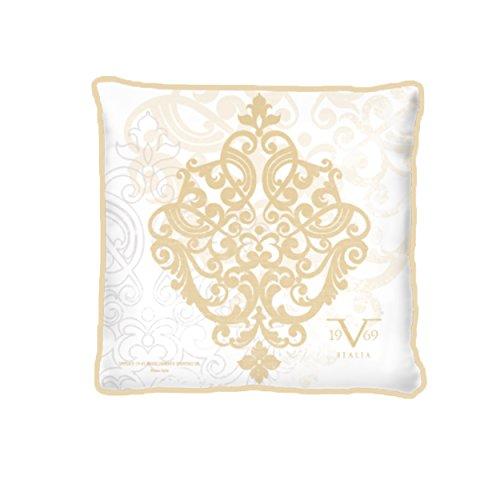Funda de cojín Versace 19 V69 con relleno, algodón, dorado, 42 x 42 x 20 cm, 1 Unidad