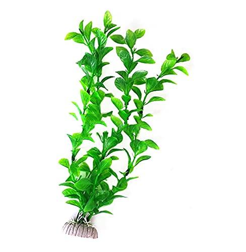 Fait Adolph Wasserpflanzen aus Plastik 3 STÜCKE 2. 6cm Lange Kunststoff Grünes Gras Aquarium Dekor Wasser Meer Unkraut Fisch Tank Dekor Schnelle Landschaftsgestaltung (Color : Green, Size : S)