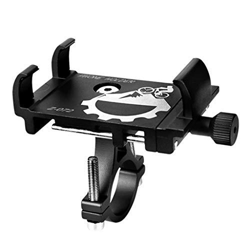 BLEUNUIT Soporte para teléfono para Bicicleta, Soporte para teléfono móvil de aleación de Aluminio para Bicicleta Soporte Universal para Manillar de Bicicleta-Negro