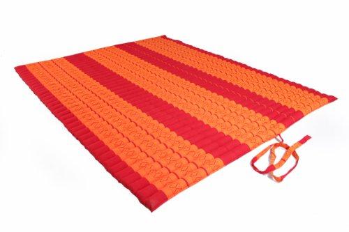 Handelsturm Thaikissen XXL Rollmatte ca. 205 x 150, Thai Kapok Matte, Rollmatte für Massage, als Liegewiese oder zum Spielen, Kissen (Rot-orange)