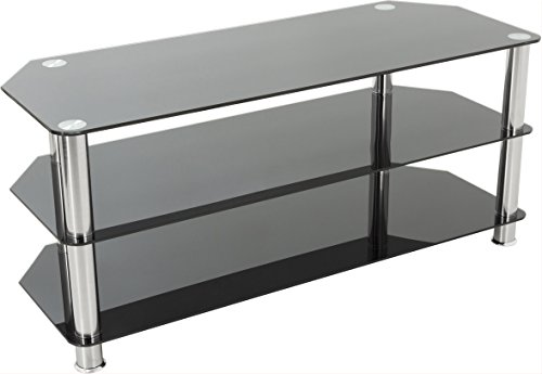 AVF Universal Black and Chrome TV Stand For up to 50 inch Plasma and LCD TVs
