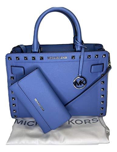 Michael Kors Rayne MD EW Umhängetasche mit Michael Kors Jet Set Reisetasche, groß, dreifach faltbar, Blau