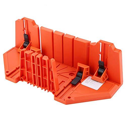 Práctica caja de ingletes portátil de alta resistencia con sierra, sierra ingletadora, corte angular para ingeniería ABS de bahía de trabajo arquitectónico