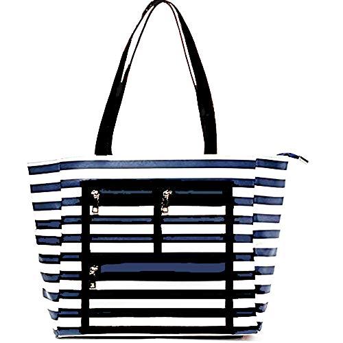 PRACMANU Essential Oils Travel Bag Tote Organizer Window Display Blue