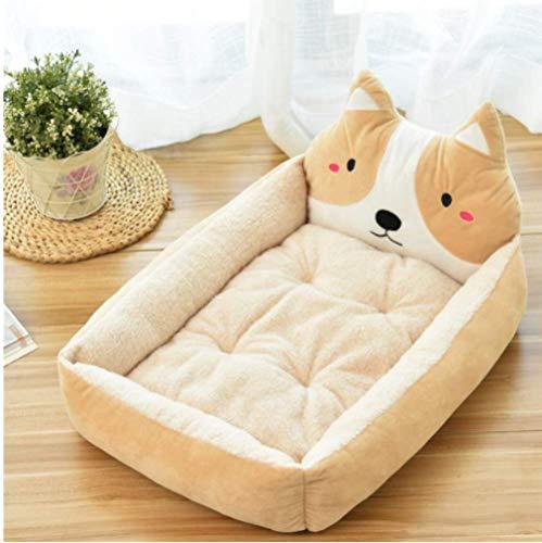 ZKCXIM Cute pet Dog Mattress Animal Cartoon Shaped Large Dog pet Sofa Kennel cat House Dog Cushion Teddy Cushion Large Blanket Supplies