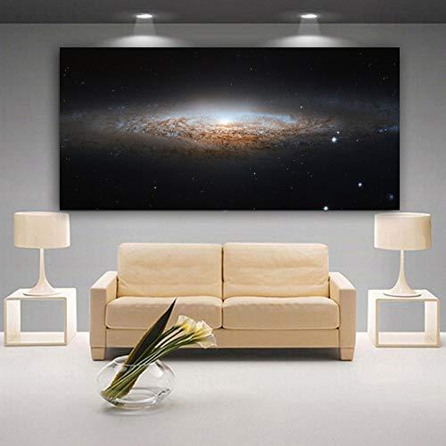 Flduod ART canvas schilderij ruimte en sterren posters en prints moderne decoratieve schilderkunst muur foto's voor de woonkamer 40x80cm