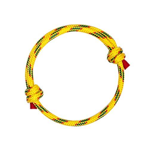 Pulsera Náutica Elegante Amarilla de Cuerda de la Más Alta Calidad para Hombre