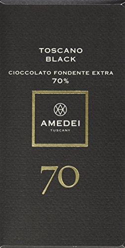 Amedei Toscano Black 70% Cioccolato fondente extra - dunkle Schokolade lezithinfrei