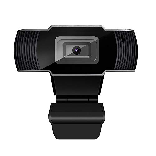 Full HD Webcam, USB 1080P Webcam 5 Megapixel Auto Focusing Webcam, Pro Streaming Camera voor Laptops, Desktop Mini Plug and Play,Flexibele Draaibare Clip