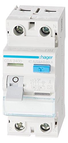 Hager CDA240D FI-Schalter 40A 30mA A-Typ 2-polig