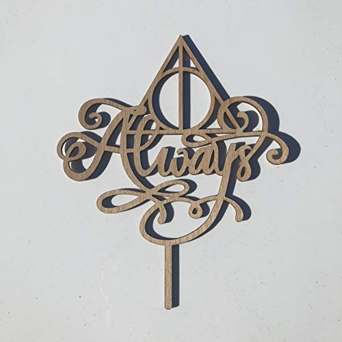 Always Deathly Hallows Cake Topper Harry Potter