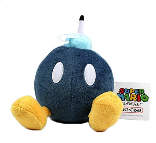 5' Official Sanei Bob-omb Soft Stuffed Plush Super Mario Plush Series Plush Doll Japanese Import