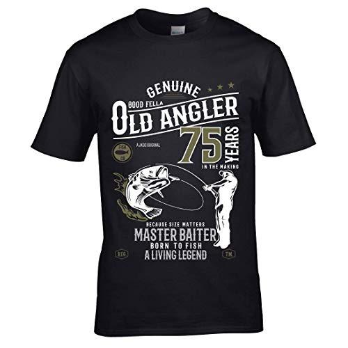 Sticker Licker Premium Grappige 75 jaar Engelse hengelaars vissen vissen vissen 75 verjaardag heren T-shirt