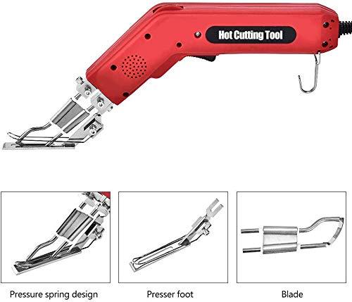 TOPQSC Handheld Elektrisches Heißes Messer Stoff Stoffschneider Professionel Heizmesser Zum Schneiden von Bändern, Seilen, Segeltuch und verschiedenen Stoffen 100W
