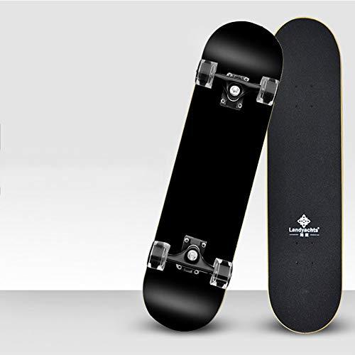 LINAG Complete Skateboard Professionelles Skate Holzboard Modefarbpinsel Street Travel Skateboard, Longboard Neunlagiges Ahorn,D,78 * 7 * 20.3CM