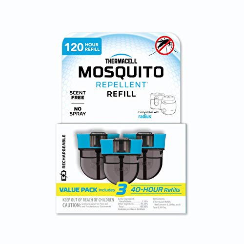 Thermacell Rechargeable Mosquito Repeller Refill; Advanced Repellent Formula Provides 20' Protection Zone; Compatible with Thermacell E-Series & Radius Only; No DEET, Spray or Flame,