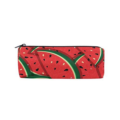 Crayon Sac Stylo Pochette Fruit Pastèque Rouge Vert Maquillage Cosmétique Ronde pour Filles Garçons École De Voyage