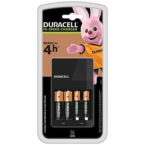 Oferta de Duracell Cargador de pilas en 4 horas, 1 unidad, Color Negro