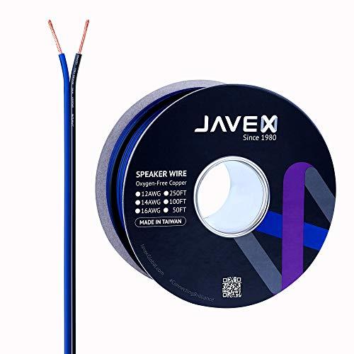 JAVEX Cable de Altavoz de Calibre 14 [2.11 mm2] [Cobre Libre de...