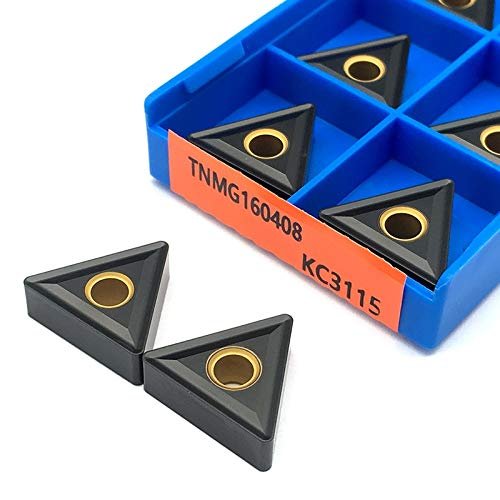 10PCS TNMG160408 KC3115 externo Activación de herramientas Inserciones de carburo TNMG 160408 Herramientas Cuchillas de torno CNC for el hierro fundido